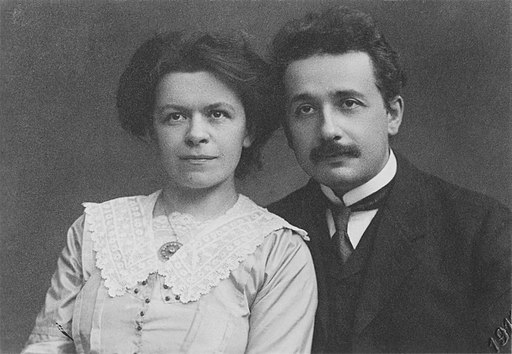 Albert Einstein and his wife Mileva Maric