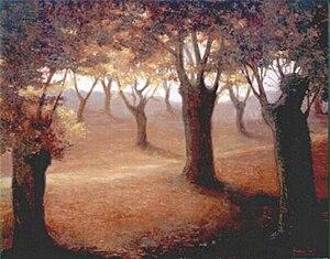 Castaños en otoño