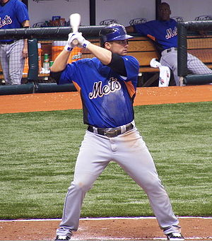 New York Mets third baseman David Wright durin...