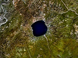 El'gygytgyn, Russia, is a impact crater with a...