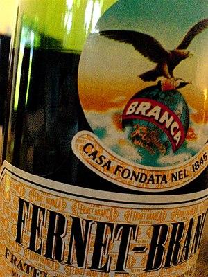 Fernet- Branca, italian amaro.