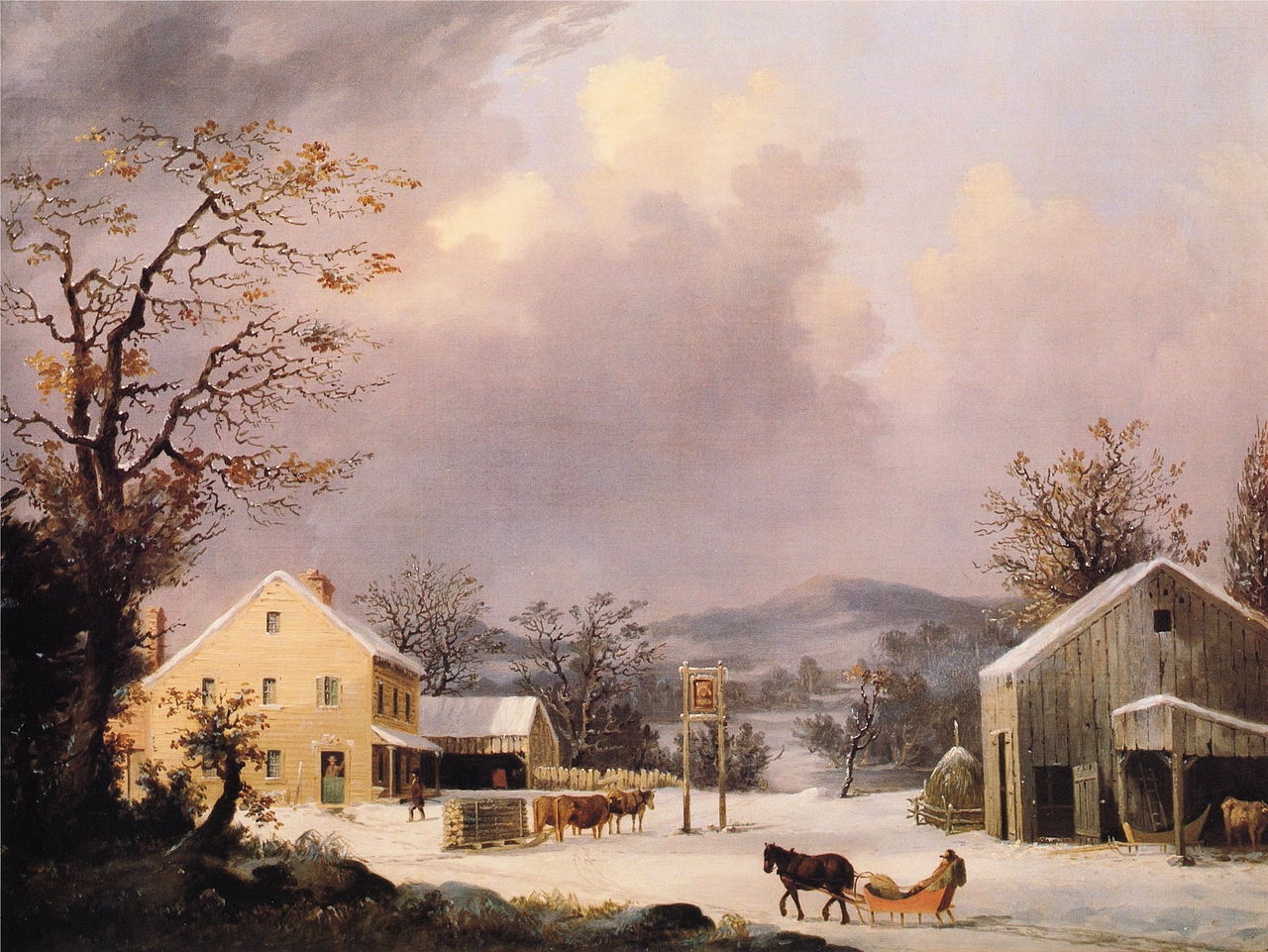 FileGeorge Henry Durrie Jones Inn WinterJPG Wikipedia