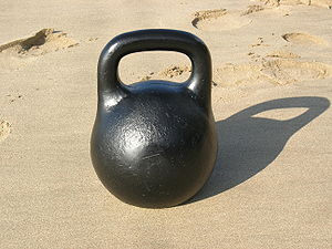 Picture of a kettlebell or