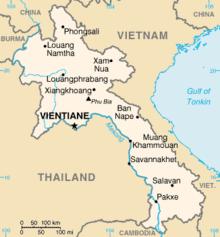 Mapa  República Democrática Popular Lau