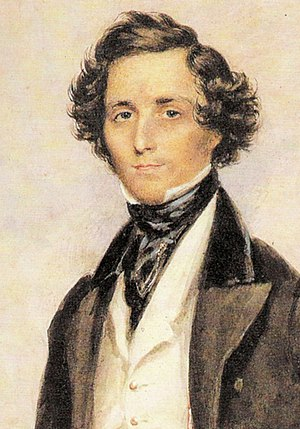 Portrait of Mendelssohn by the English miniatu...