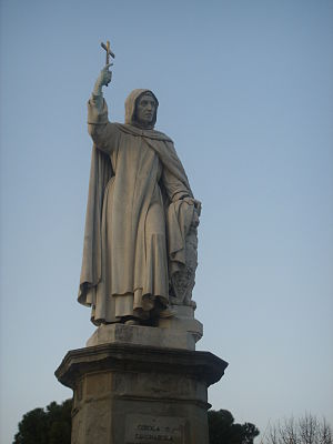 Monument to Girolamo Savonarola in Piazza Savo...