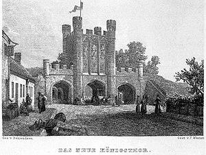 Kings' gate in Königsberg, Prussia as in XIXth...