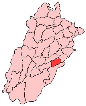 Map of Punjab Pakistan with Pakpattan District...