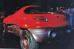 Rear view of the Renault Racoon