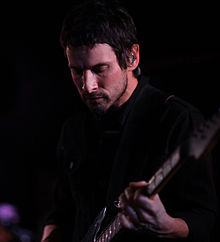 Roberts performing at Mercury Lounge in New York City in February 2014.