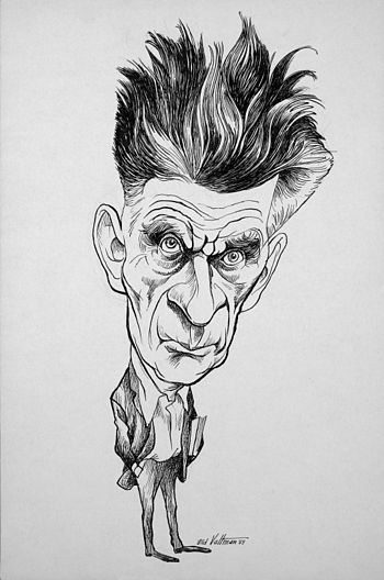 English: Caricature of Samuel Beckett, Nobel P...