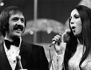 Photo of Sonny and Cher from the television sp...
