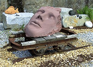 Steinwelten - Gesicht aus Sandstein