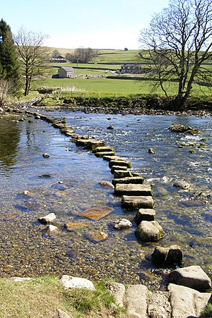 English: Stepping Stones. Stepping stones acro...
