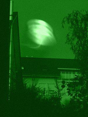 UFO Nachtaufnahme