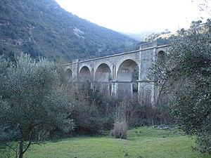 Viaduct of the former rail trail Vía Verde de ...