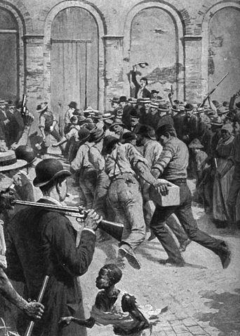 A good ol' fashioned mob.