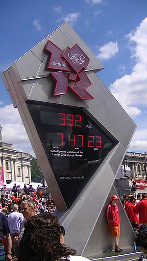 English: 2012 Summer Olympics countdown clock,...