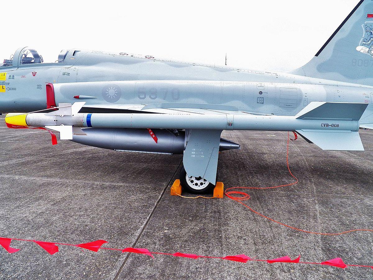 File:AIM-9P Loaded on Wingside of ROCAF F-5F 20120602.jpg - Wikimedia Commons
