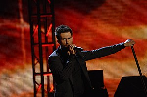 Adam Levine from Maroon 5 performs at the Neig...