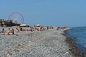 Deutsch: Strand, Schwarzes Meer, Batumi, Georgien
