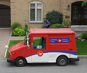 English: Canada Post LLV in service