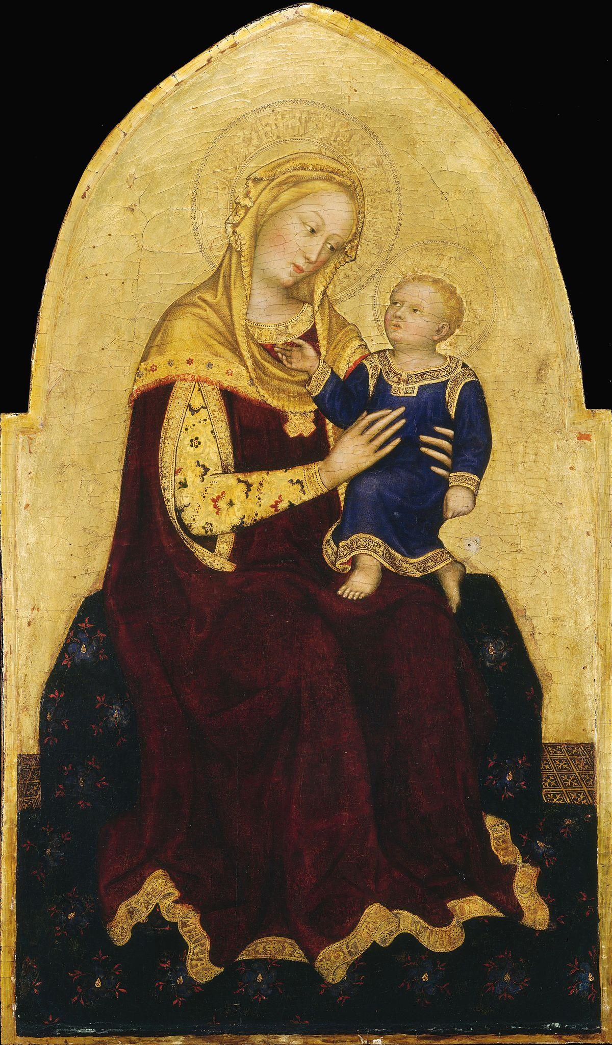 Madonna col Bambino Gentile da Fabriano Washington  Wikipedia