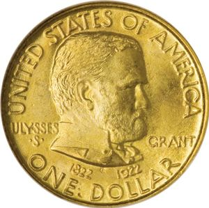 Grant commemorative dollar coin