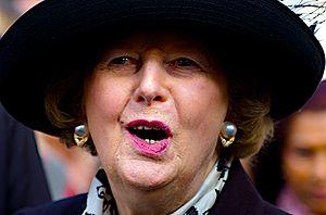 former British Prime Minister Margaret Thatche...