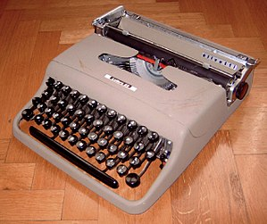 An Olivetti Lettera 22, circa 1950 designed by...