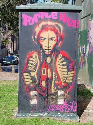 "English: Jimi Hendrix ""Purple Haze"" ..."