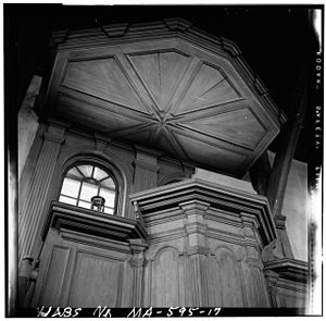 Photographic axial view of pulpit of Old Ship ...