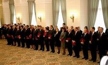 The Tusk cabinet in the Presidential Palace, November 2007.