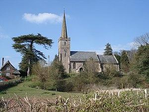 English: Stretton Grandison Church With duck p...