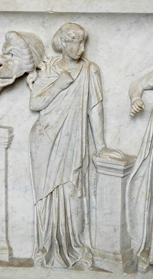 Terpsichore, muse of dancing. Detail from the ...