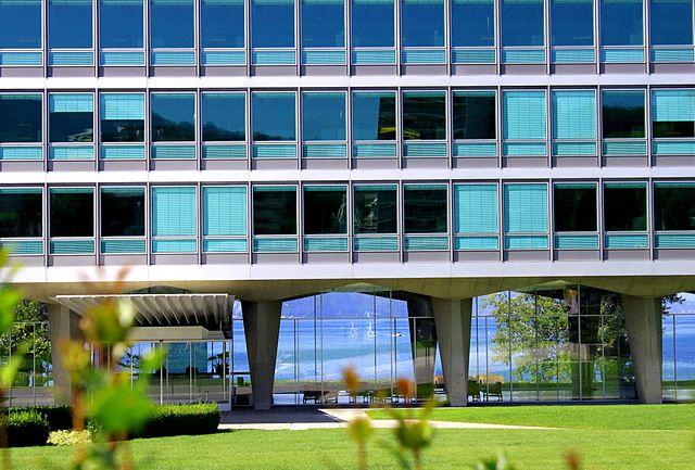 Suisse, canton de Vaud, Vevey, Bâtiment administratif et Archives Historiques de Nestlé SA.