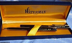 (Fr) Parure Waterman avec deux stylos signés C...