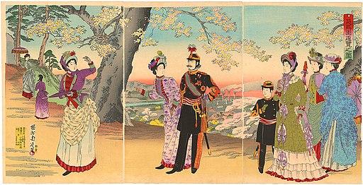 Meiji Emperor in Asukayama Park