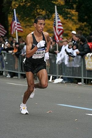 English: Khalid Khannouchi in 2007 New York Ci...