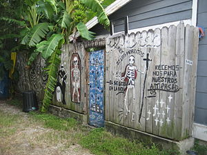 Rosalie Alley, Bywater section of New Orleans....