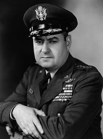 English: Curtis LeMay photographed on an unspe...