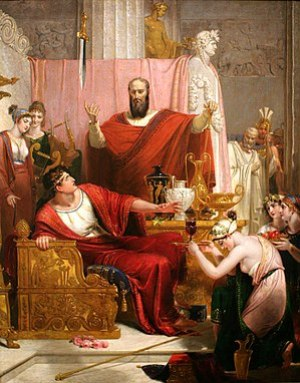 In Richard Westall's Sword of Damocles, 1812, ...