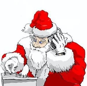 English: Santa as DJ Español: DJ santa
