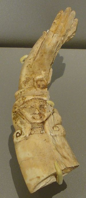 Egyptian magic wand. From the collection of th...