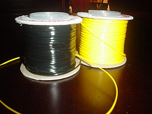 Two spools of gimp. Took pic myself
