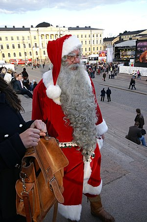 Santaclaus at Helsinki Cathedral Suomi: Joulup...
