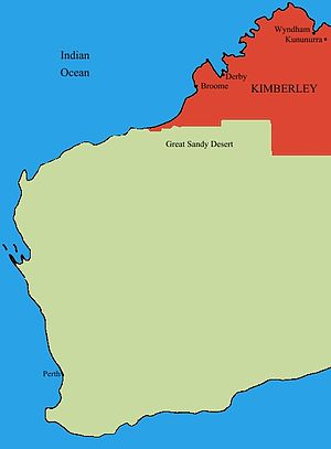 Location of the Kimberley region in Western Au...