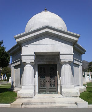 Levi Strauss' mausoleum at the Home of Peace C...