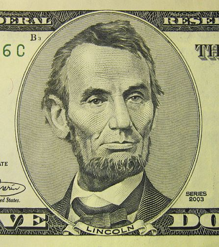File:Lincoln on 5 USD bill.jpg