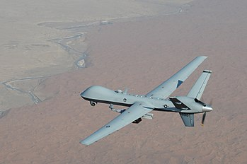English: An MQ-9 Reaper unmanned aerial vehicl...